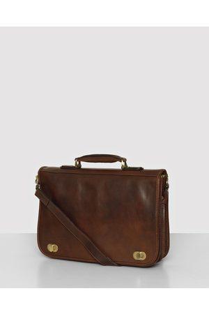 Republic of Florence King Numa Chocolate Leather Briefcase - Bags (Chocolate) King Numa Chocolate Leather Briefcase