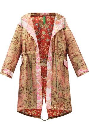 Rianna + Nina Vintage Silk-brocade Hooded Coat - Womens - Multi