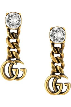 Gucci Crystal-embellished Double G earrings