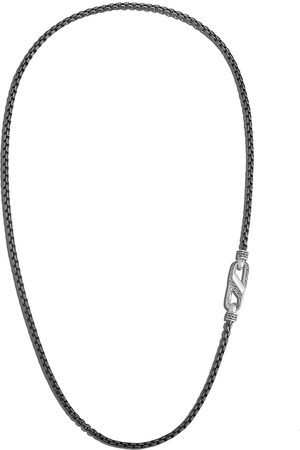 John Hardy Classic Chain' rhodium plated sterling silver necklace