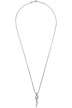 John Hardy Classic Chain' bronze rhodium-plated sterling silver pendant necklace