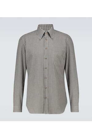 Thom Sweeney Aloe slim-fit gingham shirt