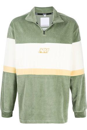 NAPA Colour block henley sweatshirt