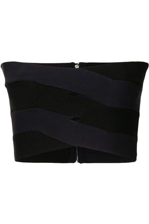 DION LEE Women Strapless Tops - Bandage-effect strapless top