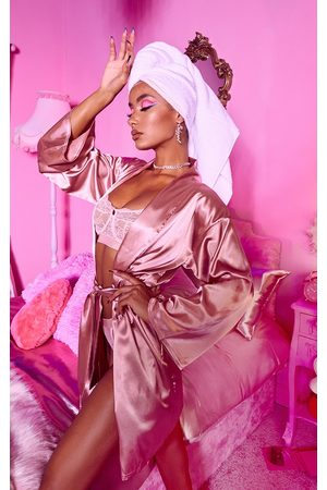 PRETTYLITTLETHING Bathrobes - Dusty Satin Robe