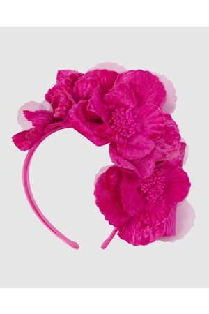 Max Alexander Flowers Fascinator - Fascinators (Fuchsia) Flowers Fascinator