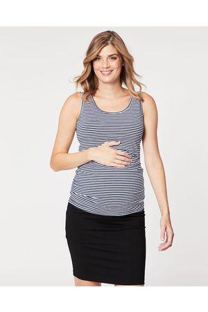 Cake Maternity Wafer Maternity Tank - T-Shirts & Singlets (Navy Stripe) Wafer Maternity Tank