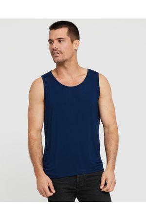Bamboo Body Bamboo Singlet - T-Shirts & Singlets (Navy) Bamboo Singlet