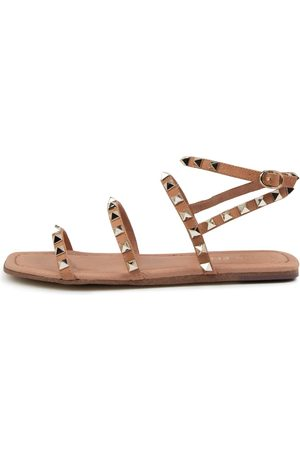 Top end Lynnox To Tan Champagne Sandals Womens Shoes Sandals Flat Sandals