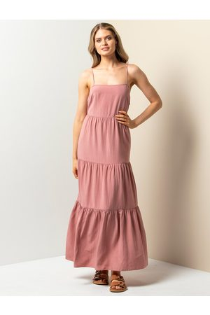Forever New Tina Belted Tiered Maxi Dress