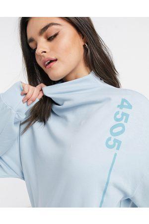 ASOS 4505 unisex high-neck sweat-Blue