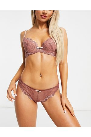 Gossard Superboost lace lingerie thong in rose pink