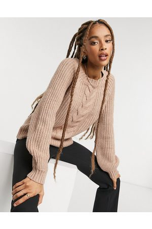 Only Cable knit jumper in pink