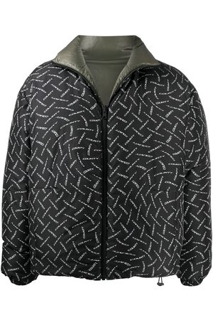 MARCELO BURLON County logo print padded jacket