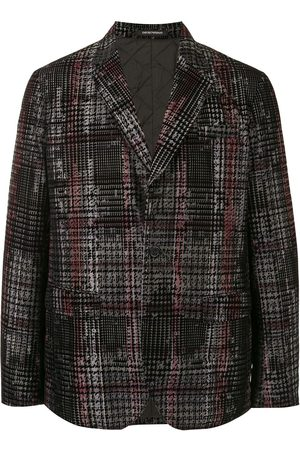 Emporio Armani Houndstooth check cotton blazer