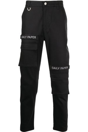 Daily paper Men Cargo Pants - Logo patch cargo trousers