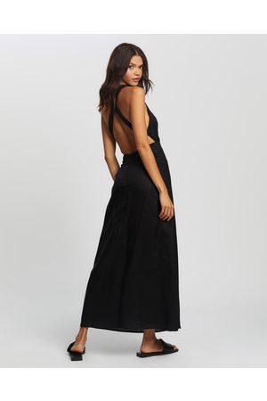 AERE Cross Back Maxi Dress - Dresses Cross Back Maxi Dress