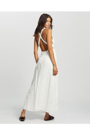 AERE Cross Back Maxi Dress - Dresses (Ivory) Cross Back Maxi Dress