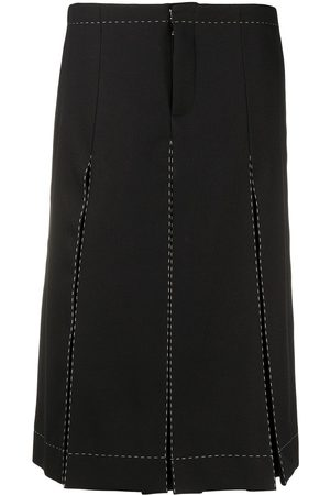 Maison Margiela Box-pleat high-waist culottes skirt