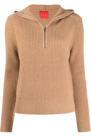 Cashmere In Love Ribbed-knit hoodie
