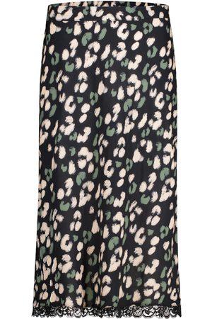 Velvet Moanna leopard-print midi skirt