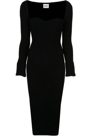 Khaite Beth sweetheart-neck dress