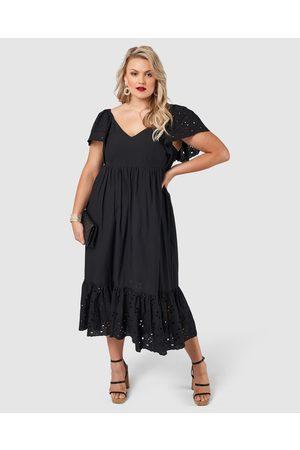 Pink Dusk Girlz Broderie Maxi Dress - Dresses Girlz Broderie Maxi Dress