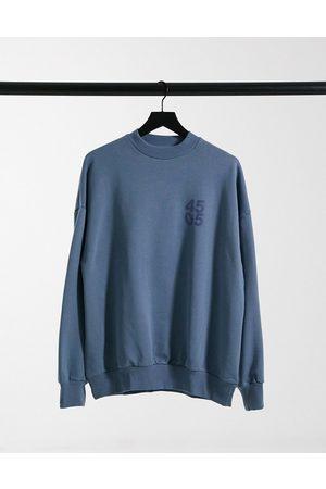 ASOS 4505 unisex logo oversized sweat-Blue