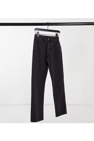 COLLUSION X000 Unisex straight leg jeans in berry black