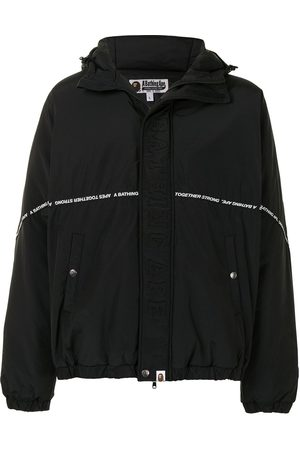 A BATHING APE® Logo tape hooded jacket