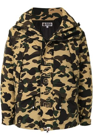 A BATHING APE® Camouflage print hooded jacket