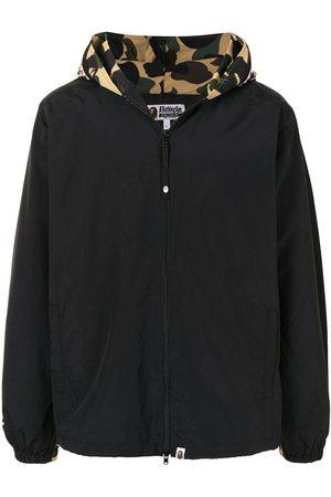 A BATHING APE® Camouflage print hooded jacket