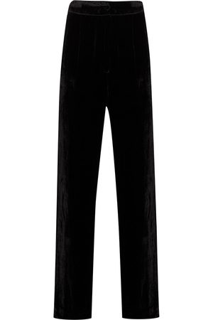 Sleeping with Jacques High-shine velvet effect trousers