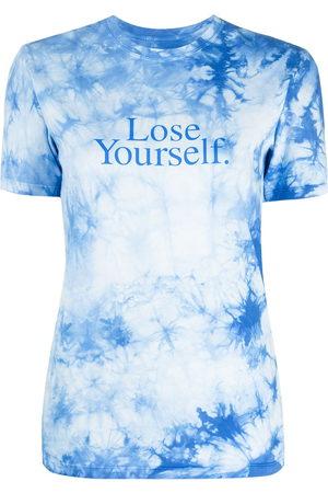 Paco rabanne Slogan print tie-dye T-shirt