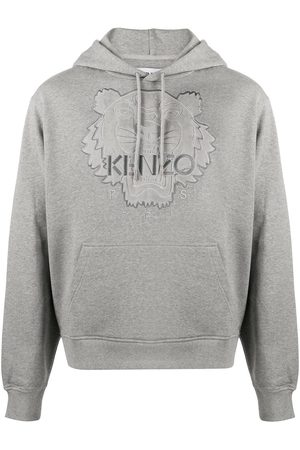 Kenzo Tiger logo embroidered hoodie