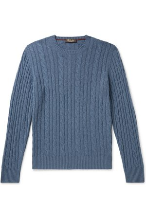 Loro Piana Slim-Fit Cable-Knit Baby Cashmere Sweater