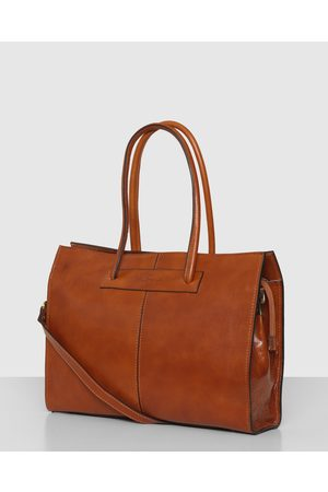 Florence The Tan Leather Tote Work Bag - Bags (Tan) The Tan Leather Tote Work Bag