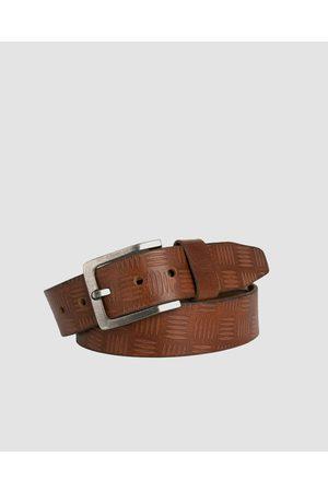 Loop Leather Co Men Belts - Franklin - Belts (Chestnut) Franklin