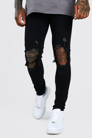 Boohoo Mens Super Skinny Jeans With Distressing