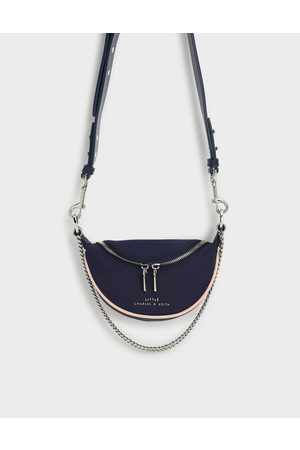 CHARLES & KEITH Girls' Chain-Embellished Crossbody Bag