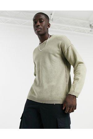 Bershka Washed sweatshirt in beige