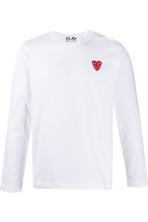 Comme des Garçons Heart-embroidered long-sleeve T-shirt