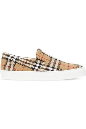 Burberry Check latticed slip-on sneakers