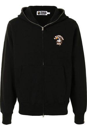 A Bathing Ape Men Hoodies - Eagle motif zip-up hoodie