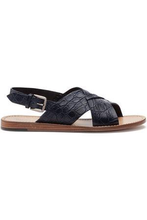 Dolce & Gabbana Crocodile effect interwoven sandals