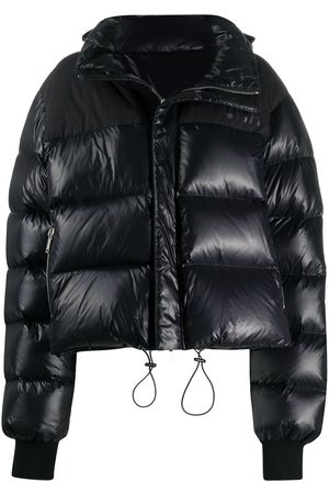 Unravel Project Contrast-panel logo puffer jacket