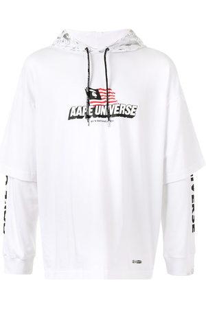 AAPE BY A BATHING APE Logo-print layered hoodie