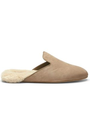 Inabo Fritz Suede And Shearling Slippers - Mens