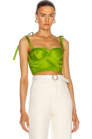 Rosie Assoulin Women Crop Tops - Bustier Top in Lime