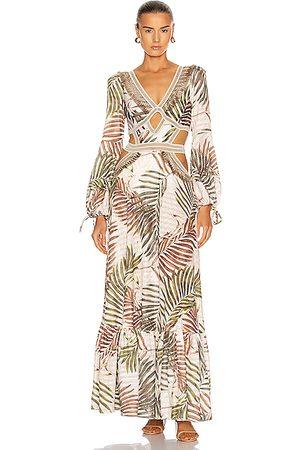 PATBO Palmeira Long Sleeve Crotchet Beach Dress in Ivory
